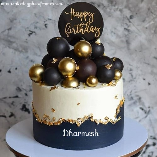 Happy Birthday Dharmesh cake with name image editor