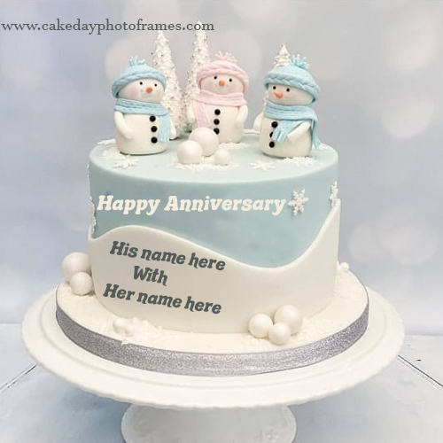 marriage anniversary cake with name