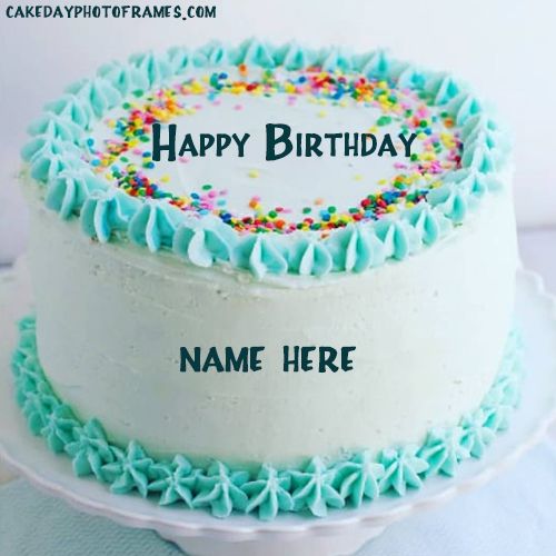 happy birthday cake with name edit online