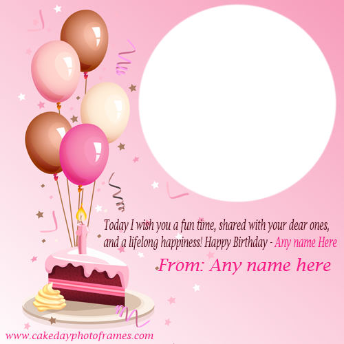 happy birthday greeting card with name and photo