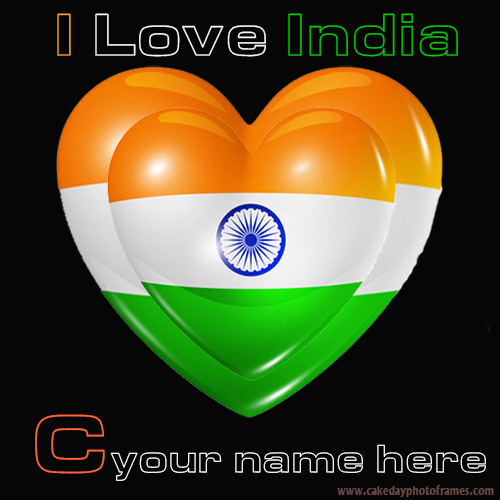 Write your name on Indian flag C alphabet name pic