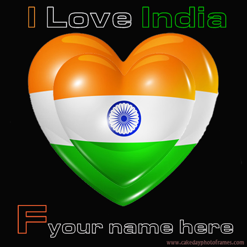 Write your name on Indian flag F alphabet name pic