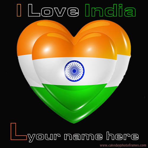 Write your name on Indian flag L alphabet name pic