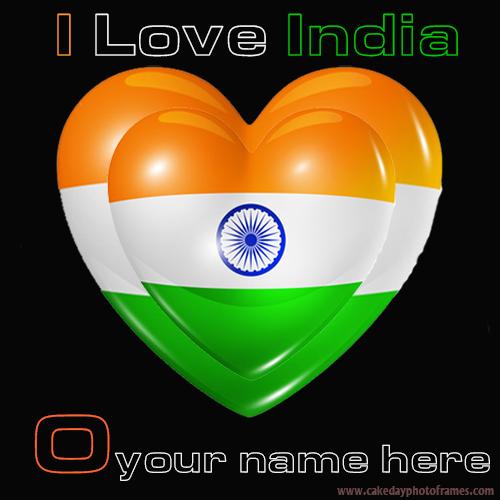 Write your name name on Indian flag O alphabet name pic