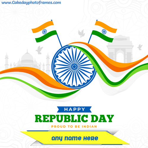 Happy Republic wish card with Name