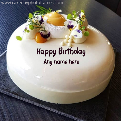 Happy Birthday Wishes Cake with Name Edit | cakedayphotoframes