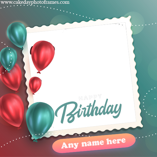 Enjoyable Happy Birthday Greeting Card With Name And Photo Edit Funny Birthday Cards Online Inifofree Goldxyz