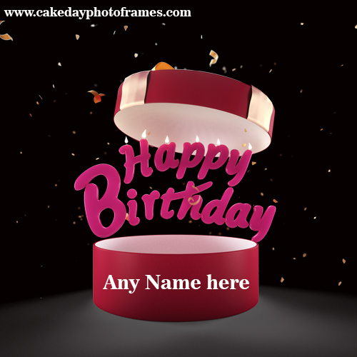 Happy Birthday Gift Card With Name Free Edit Cakedayphotoframes