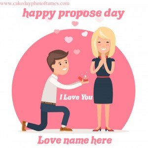 Latest Happy Propose Day Card with Name