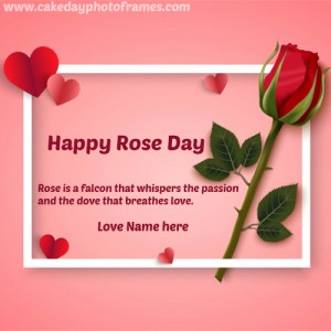 happy rose day greetings with name