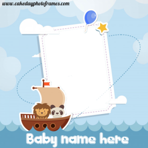 baby picture frame with name