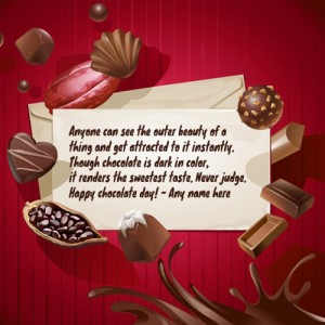 happy chocolate day 2020 card with name