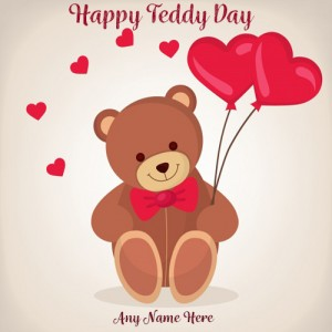 Happy Teddy Day 2020 Valentine Greeting With Name