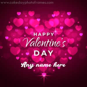 happy valentine day 2020 greeting card