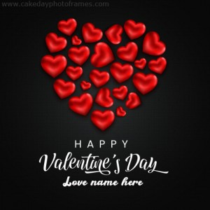 Make a Happy Valentines Day card with name photo