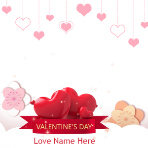 happy valentines day 2020 card with name and photo