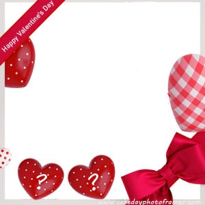 happy valentine day greeting card with name alphabet and photo
