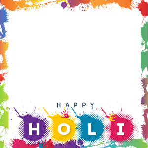 Happy Holi wishes 2020 card with photo