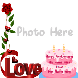 Wedding Anniversary Card With Name and Photo Free