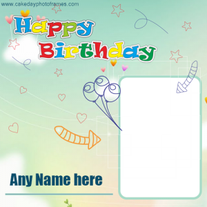 Special Happy Birthday wishing card with name and photo