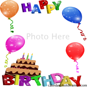 happy birthday photo frame free download
