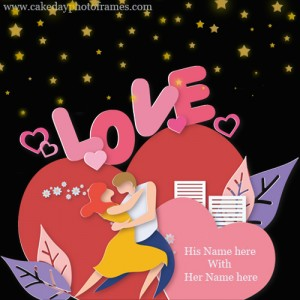 Love card with Couple Name free and online