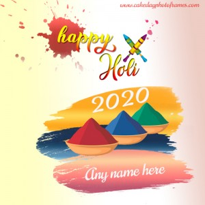holi 2020 special card with name for free download