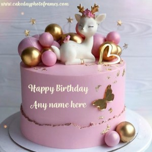 happy birthday cake with name online