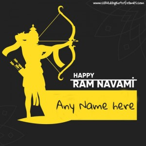 Happy Ram Navami wishes card with Name