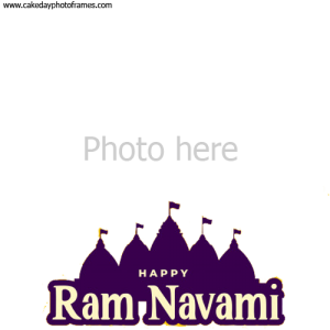 Happy Ram Navami Card with photo