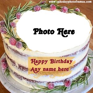 Pleasant Popular Birthday Cake With Name And Photo Editor Online Free Personalised Birthday Cards Arneslily Jamesorg