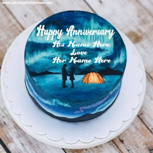 happy friendship anniversary cake with name