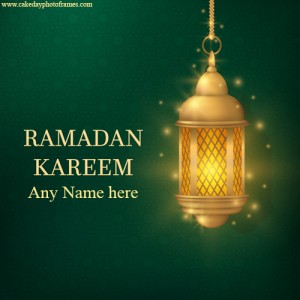 happy ramadan 2020 wishes card with name
