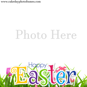 happy easter day photo frame free edit