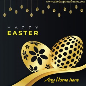 happy easter day wishes card with name edit