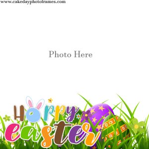 happy easter sunday wishes frame Free Edit