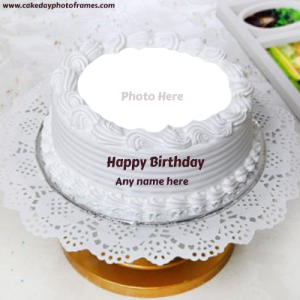 birthday cake with name and photo edit online free