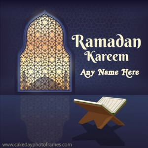 happy ramadan eid ul fitr 2020 greeting card with name