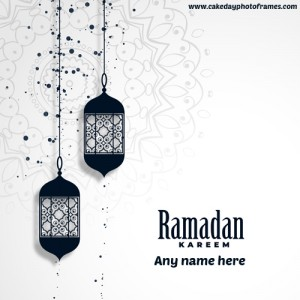 happy ramadan greeting card with name