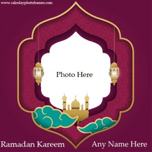 Ramadan Kareem Greeting Card With Name And Photo