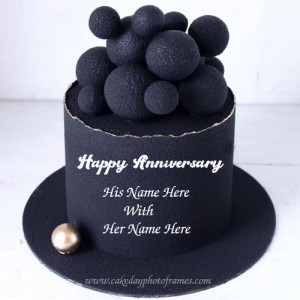 Awesome Happy Anniversary wishes cake with name