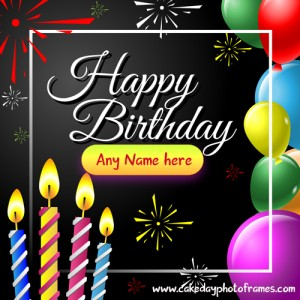 Happy Birthday Wishes Card with Name image