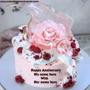 Create Online Happy Anniversary Greeting With Name