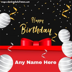 Happy Birthday Card image with Name feature
