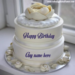Create beautiful Happy Birthday cake with name edit