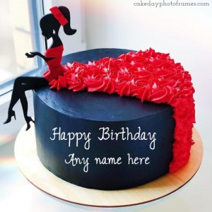 Lovely Happy Birthday Doll Cake with Name Edit