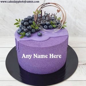 Online Happy Birthday greeting cake image