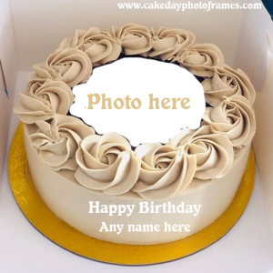 Happy Birthday Cake with Name & Photo editor