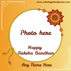 Happy Raksha Bandhan Card with Name & Photo
