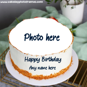 Create Online Happy Birthday Cake with Photo frame